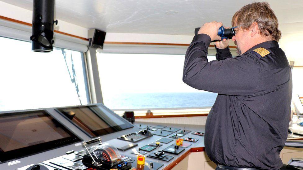 Thomas Larsen captains Ellen the world's biggest electric ferry