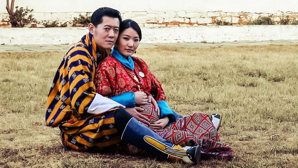 King Jigme Khesar Namgyel Wangchuk and Queen Jetsun Pema of Bhutan