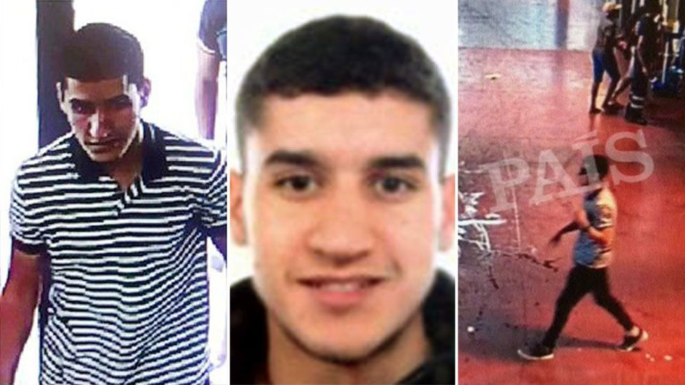 Chief suspect in the Barcelona attack, Younes Abouyaaqoub, 21 August 2017