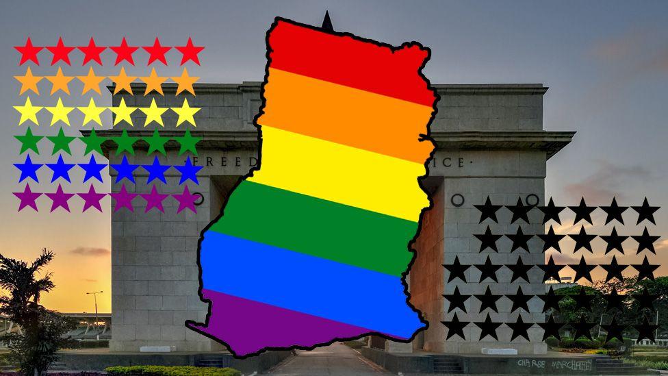 Ghana and LGBT flag