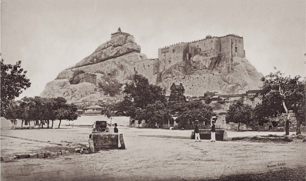 The Rock of Trichinopoly from the East, Tamil Nadu