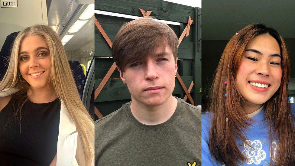 Three Scottish pupils