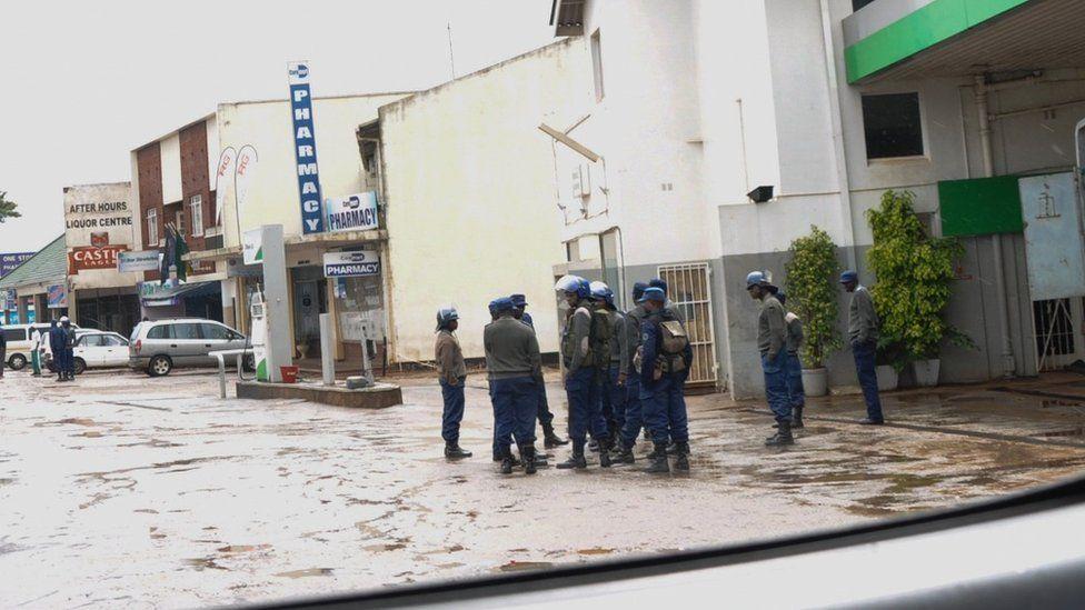 Empty Harare streets