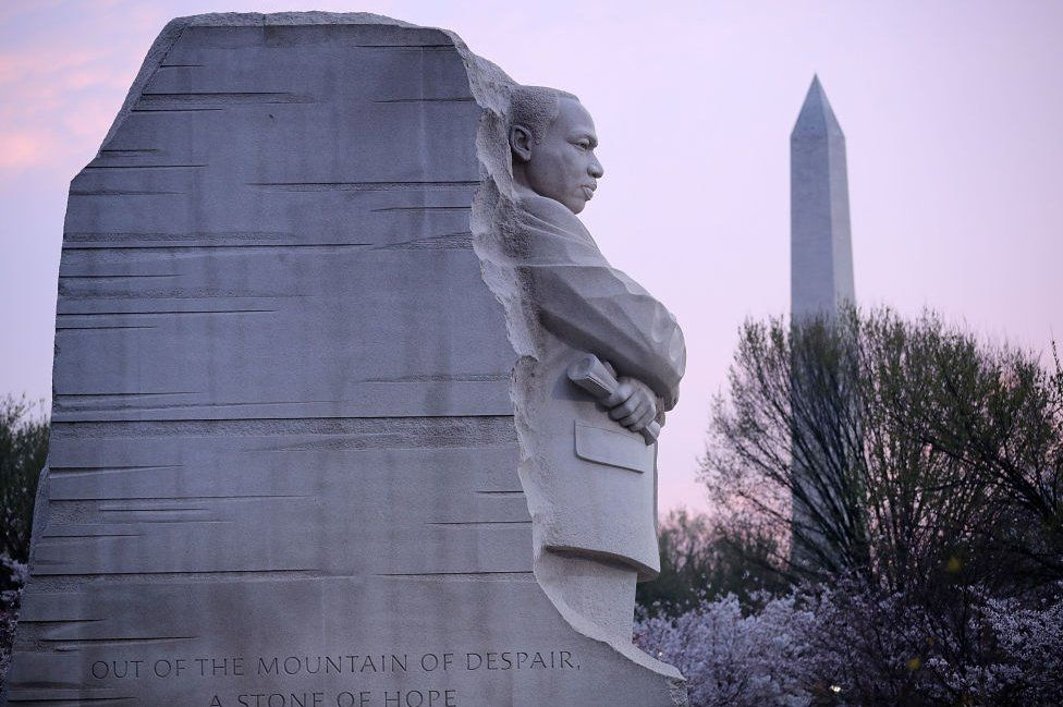 The MLK memorial in Washington was erected in 2011