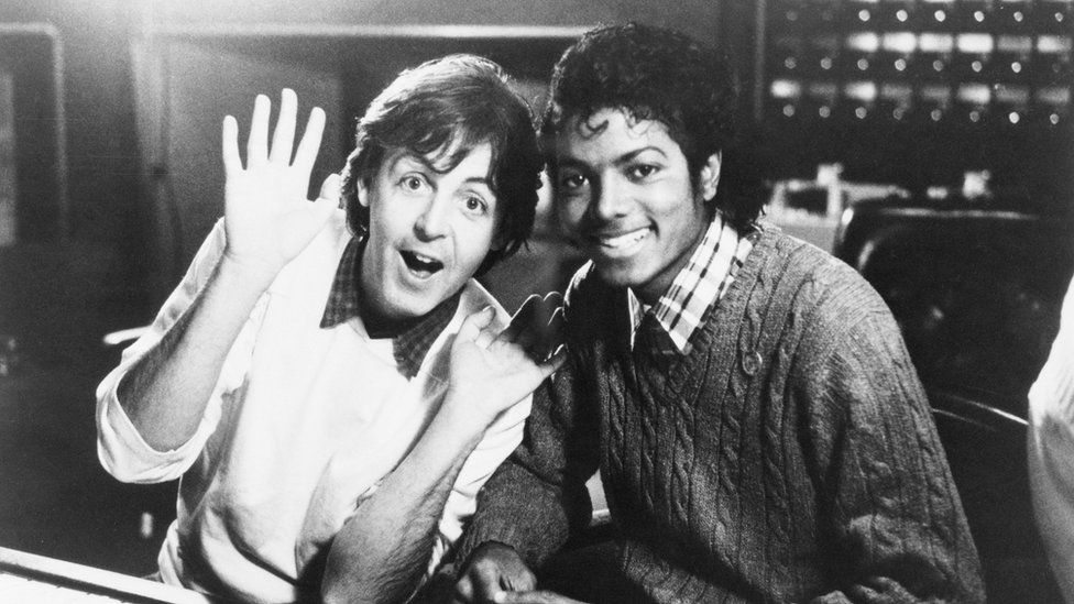 Sir Paul McCartney and Michael Jackson