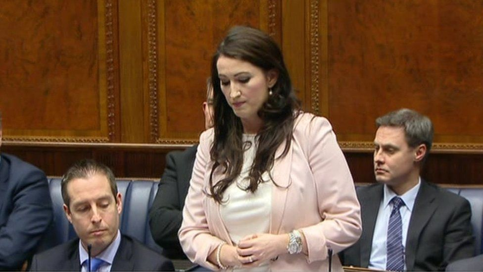 """The DUP's Emma Pengelly said her party's stance was """"a compassionate one"""""""