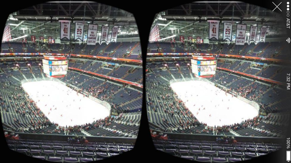 Stereoscopic image of sporting venue