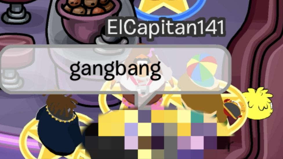 penguin saying 'gangbang'