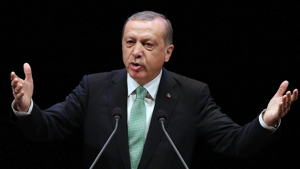 Turkish President Recep Tayyip Erdogan pictured at the Bestepe National Congress and Culture Centre in Ankara on November 3, 2016.
