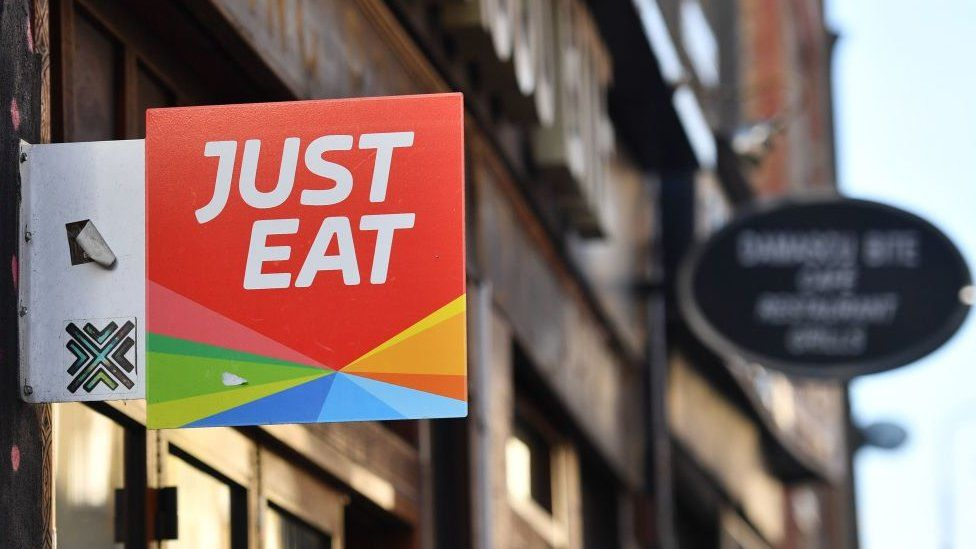 Just Eat sign