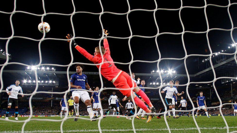 Goal in Everton vs Apollon Limassol match