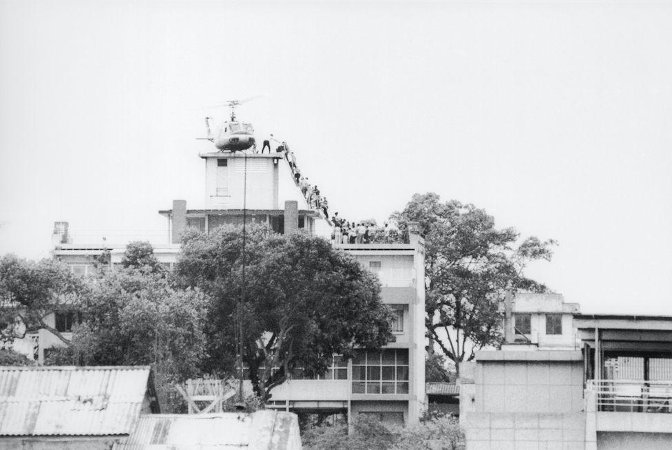 Saigon evacuation in 1975