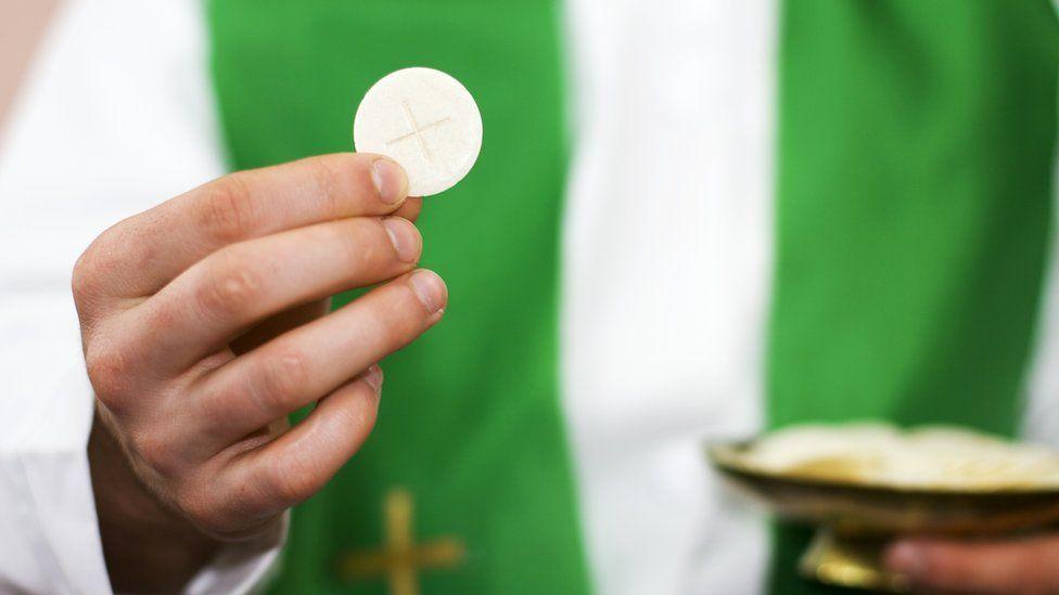 Stock image of Holy Communion