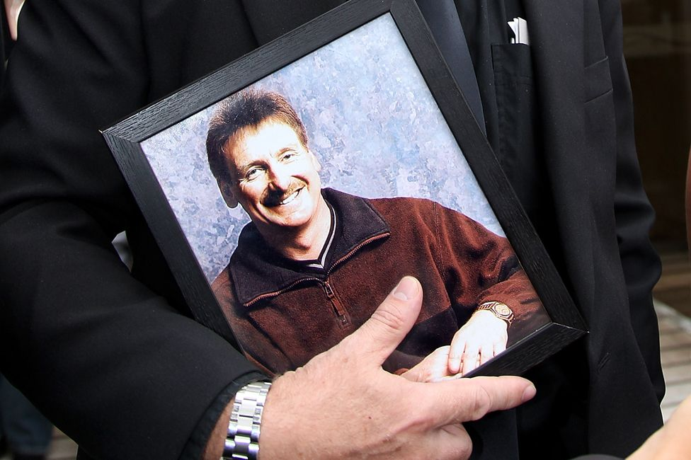 Portrait of Phil Nisbet carried to court by his brother, Andrew Nisbet