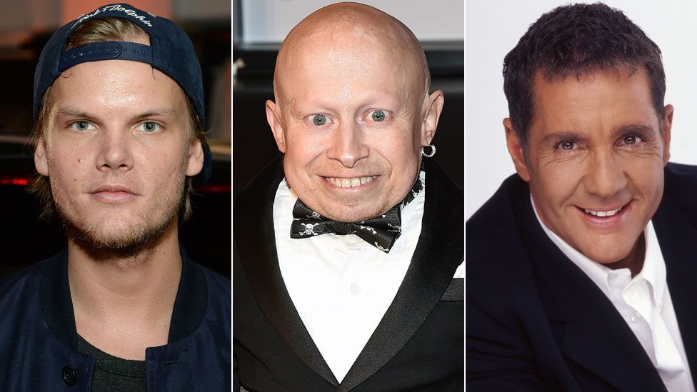 Avicii, Verne Troyer and Dale Winton