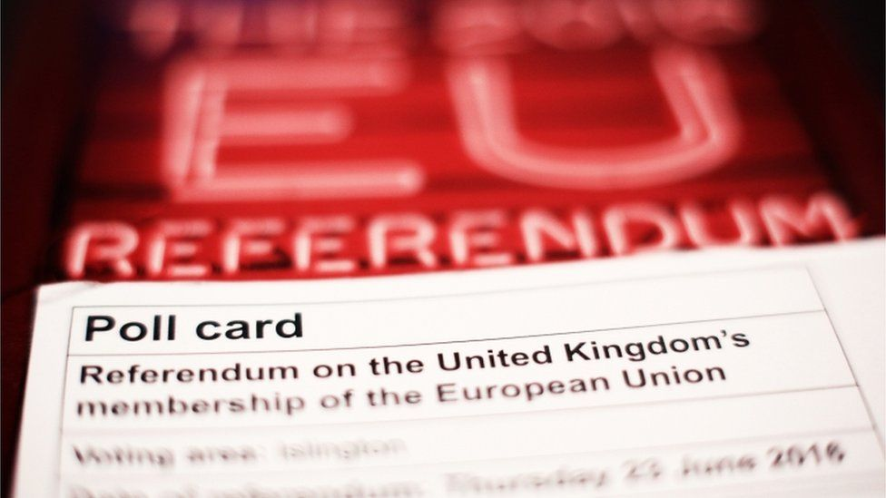 Poll card for EU Referendum