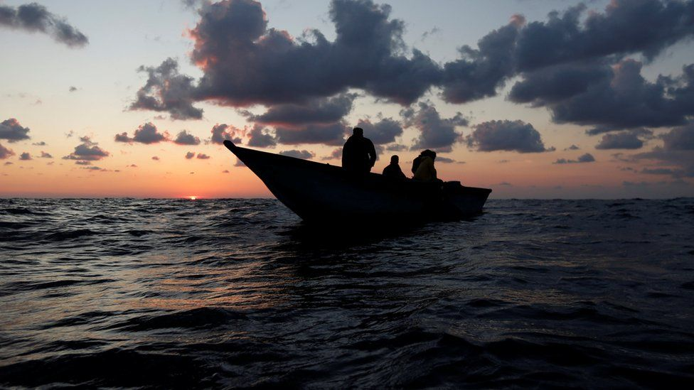 Migrants on a wood boat in the Mediterranean - Saturday 30 September 2017