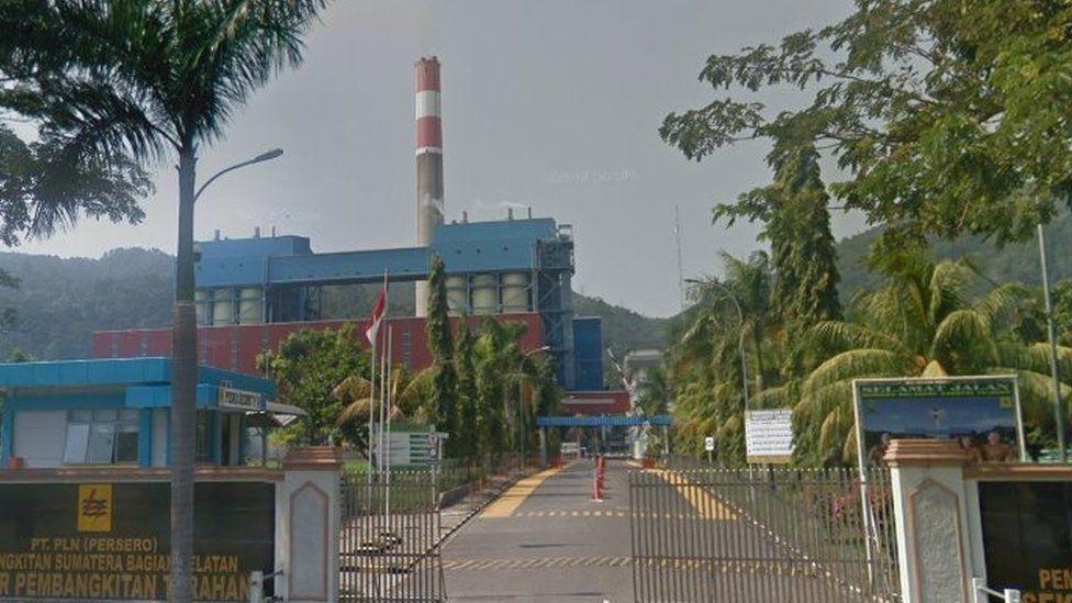 Coal-fired power plant at Tarahan, near Lampung, Indonesia