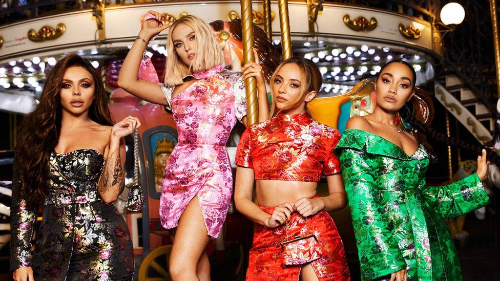 Little Mix pose in Prettylittlething clothes