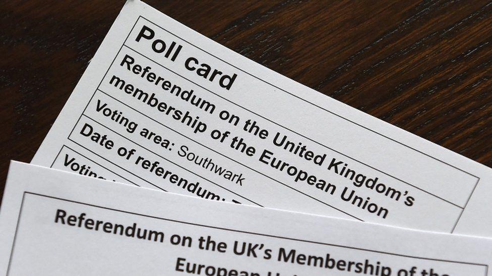 EU referendum polling card