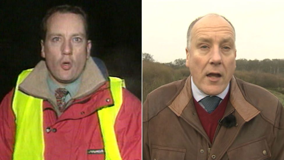 BBC South Today reporter Paul Clifton in 1996 and 2015