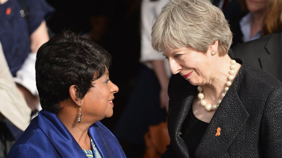 Baroness Doreen Lawrence and Prime Minister Theresa May