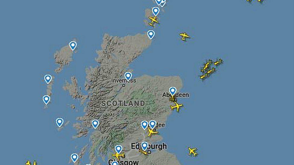 flights over Scotland