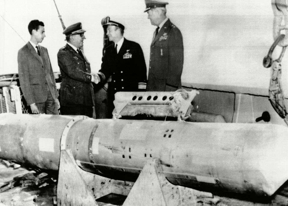 Recovered nuclear bomb (April 1966)