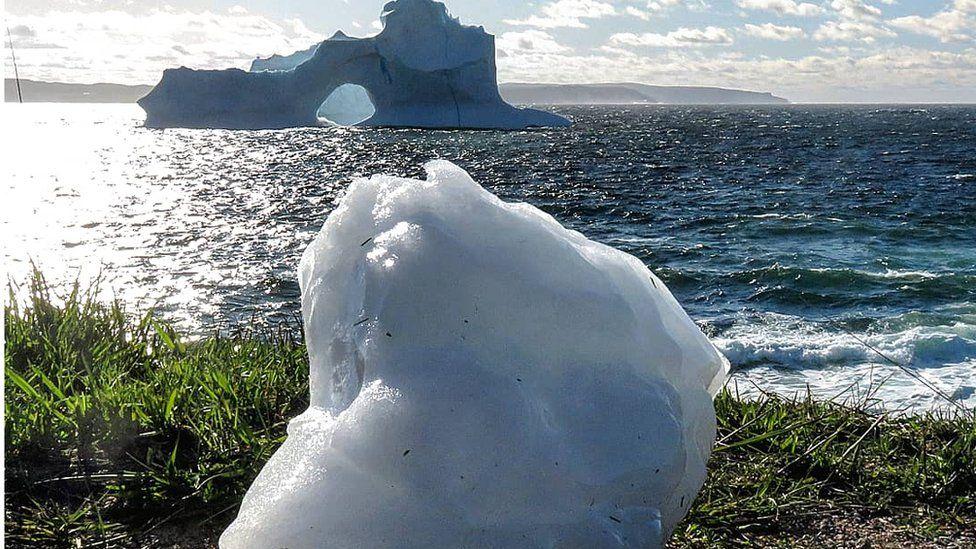 An iceberg off Newfoundland's coast