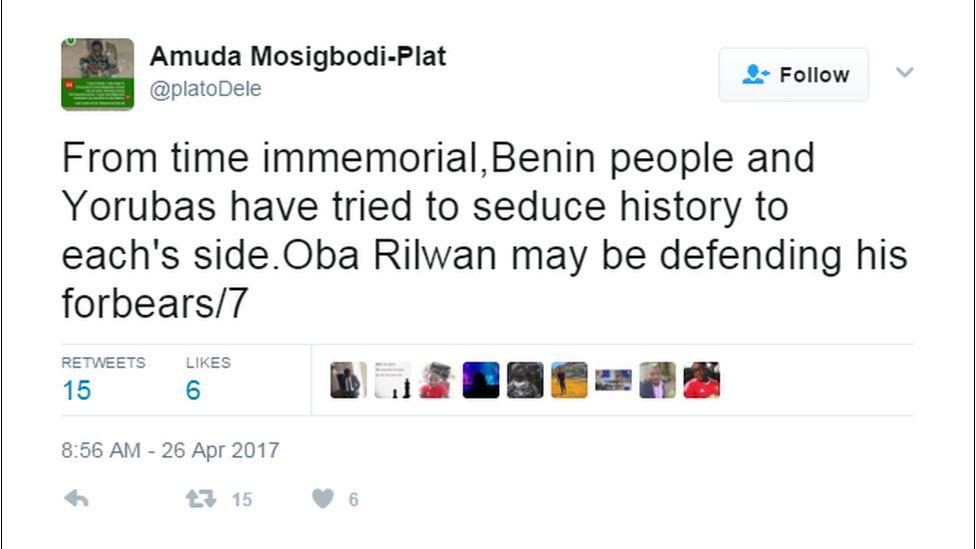A Tweet from Amuda Mosigbodi-Plat