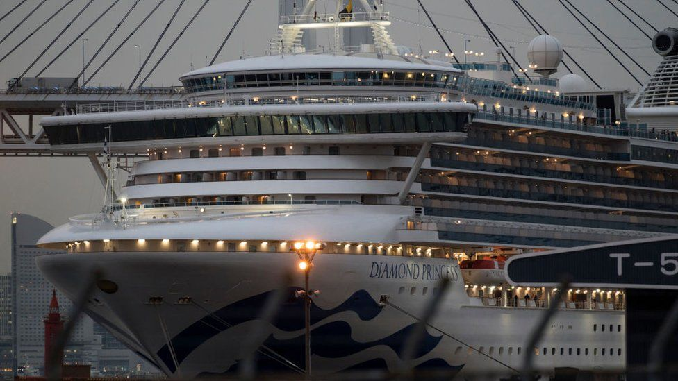 The Diamond Princess cruise ship - quarantined in Japan due to coronavirus