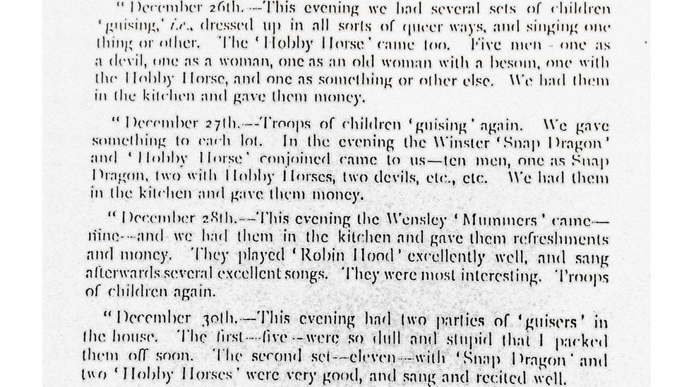 Typed extract of Llewellyn Jewitt's diary from 1867
