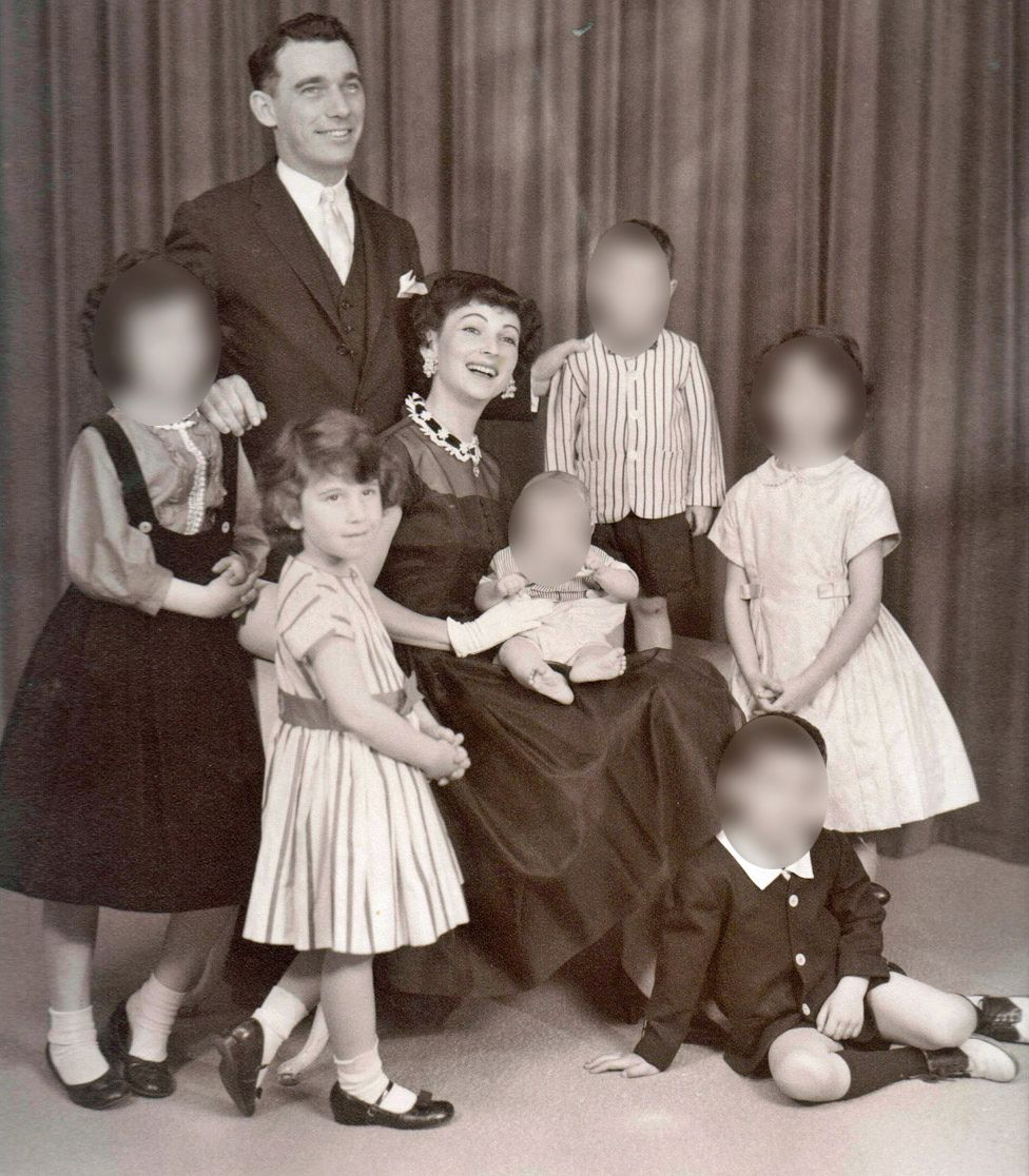 Margo Perin's family photographed in New York in 1961, before her youngest sibling was born