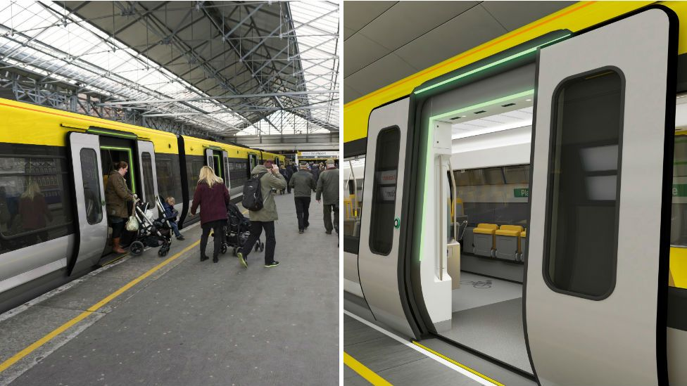 New trains with traffic light system