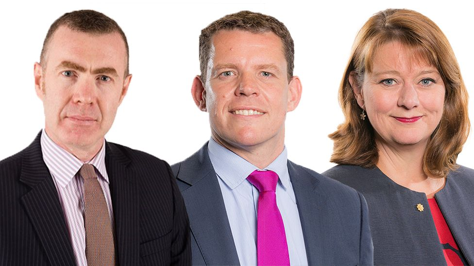 Adam Price, Rhun ap Iorwerth and Leanne Wood