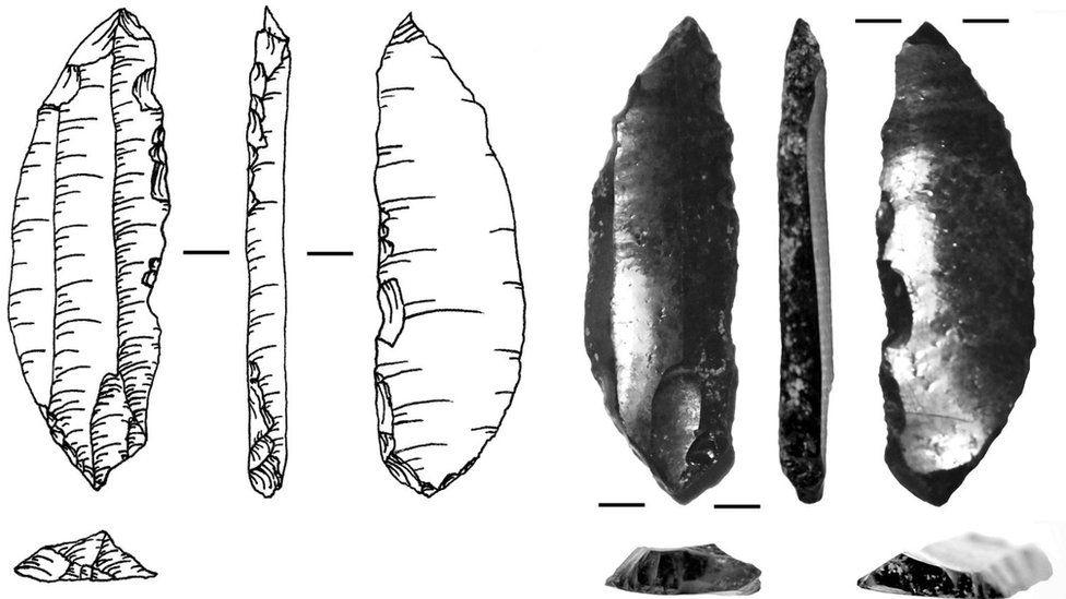 Example of arrowheads