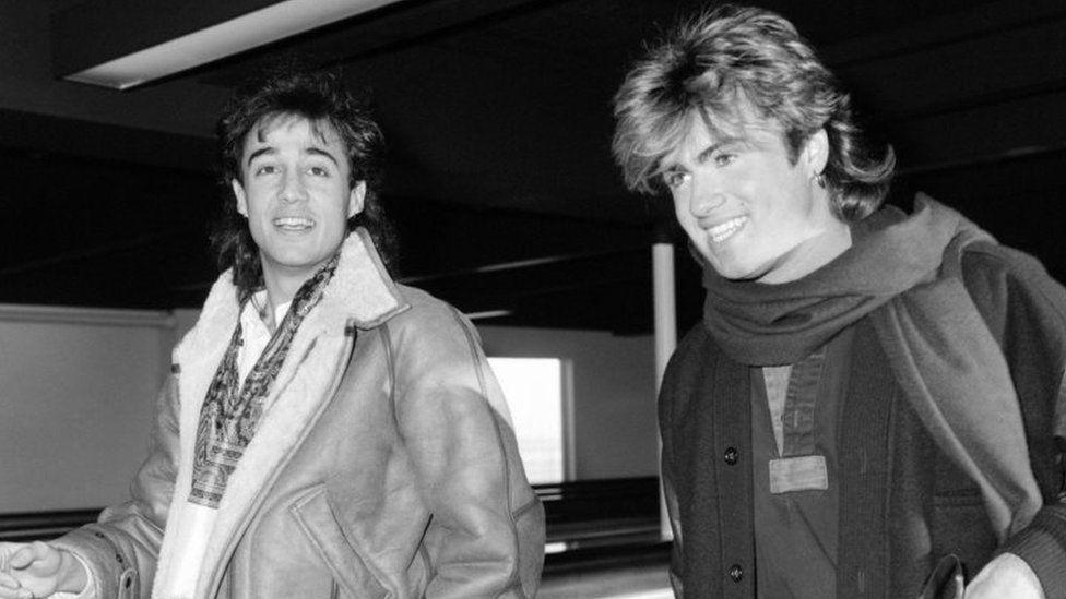 Andrew Ridgeley (left) and George Michael. Photo: January 1985