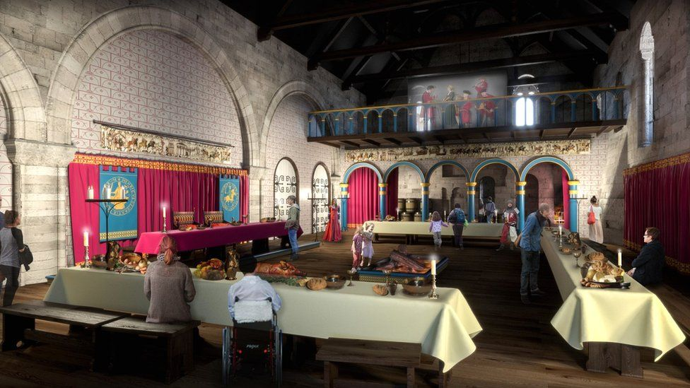 Artist's impression of the Great Hall