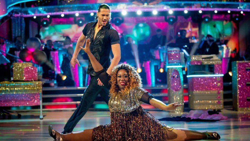 Graziano Di Prima and Chizzy Akudolu on the dance floor