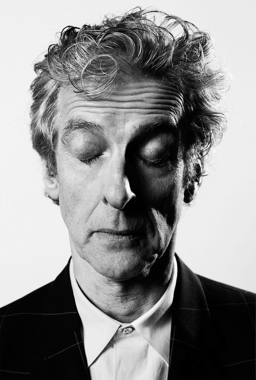 Peter Capaldi with his eyes shut