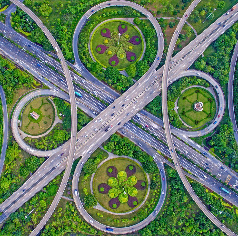 Roads in Guangdong, China