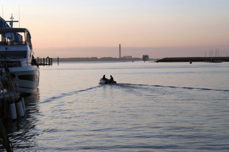 Sunset across water