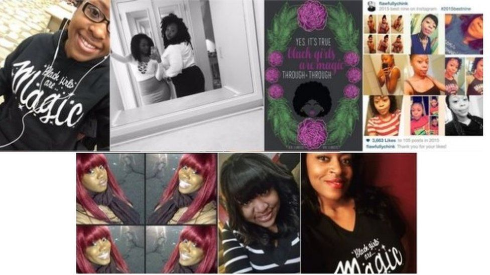 Collection of photos posted using the #BlackGirlsAreMagic hashtag