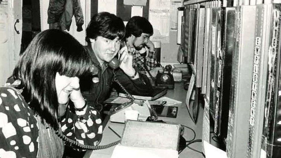 Lisa Power on the phone
