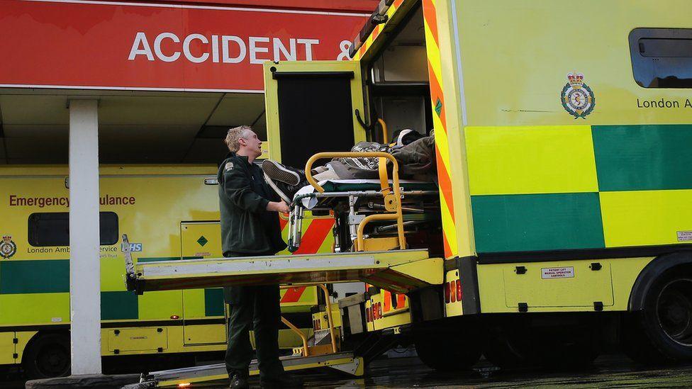 ambulance outside A & E