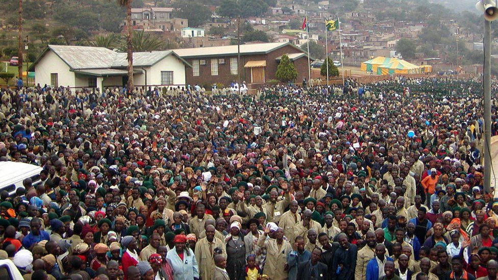 Worshippers at an Easter service in South Africa
