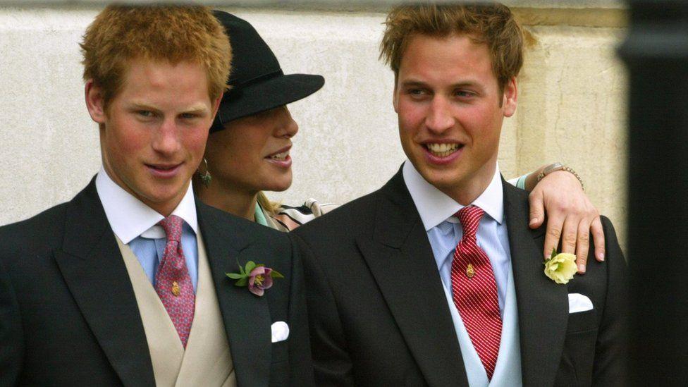 Brothers at Charles and Camilla wedding