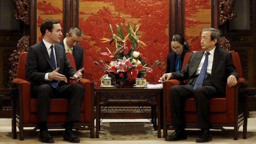 George Osborne and Chinese vice premier Ma Kai