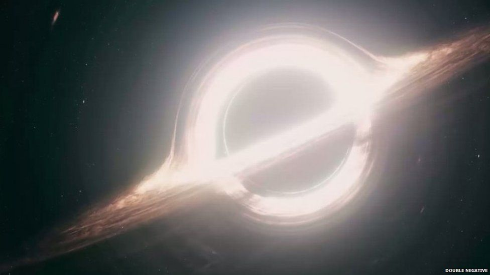 Image of a black hole produced by Double Negative for Interstellar