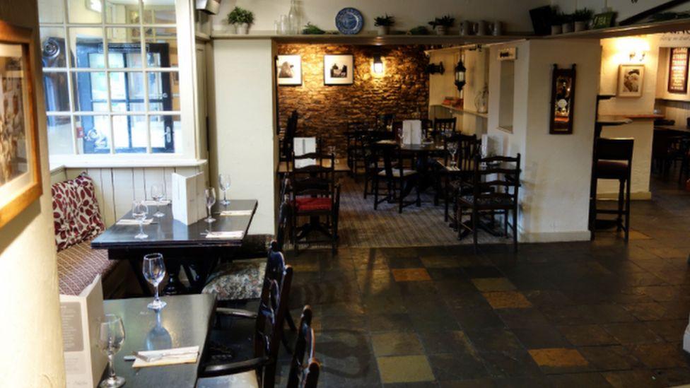 The empty inside of the Star Inn